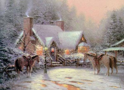 A Christmas Welcome (12 X 16 Paper)- Signed By The Artist								 – Paper Lithograph – Limited Edition – 2850 S/N – 12 x 16