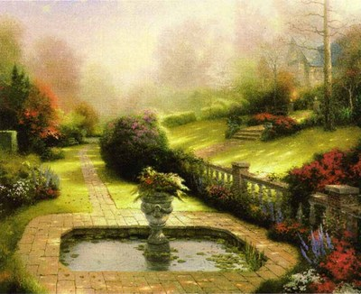 Gardens Beyond Autumn Gate (25 1/2 X 34 Canvas)- Signed By The Artist								 – Canvas Lithograph – Limited Edition – 5190 S/N – 25 1/2 x 34