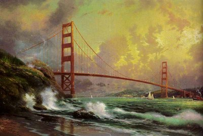 Golden Gate Bridge, San Francisco (24 X 36 Canvas)- Signed By The Artist – CanvasLithograph – Limited Edition – 3950S/N – 24x36