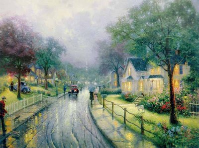 Hometown Memories (24 X 30 Canvas)- Signed By The Artist								 – Canvas Lithograph – Limited Edition – 4950 S/N – 24 x 30