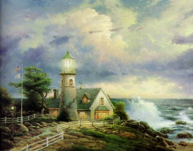 A Light In The Storm (20 X 24 Canvas)- Signed By The Artist								 – Canvas Lithograph – Limited Edition – 3950 S/N – 20 x 24