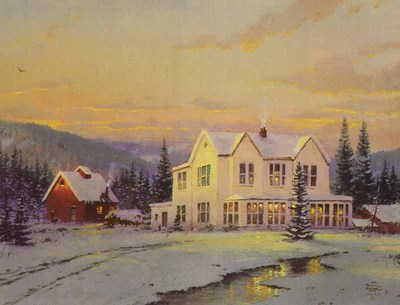 Lights Of Home (8 X 10 Canvas)- Signed By The Artist – CanvasLithograph – Limited Edition – S/N – 8x10 –