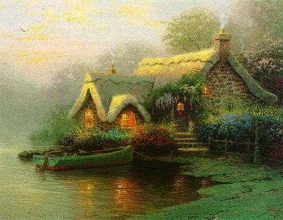 Lockhaven Cottage – Framed (9 X 12 Canvas)- Signed By The Artist – CanvasLithograph – Limited Edition – S/N – 9x12