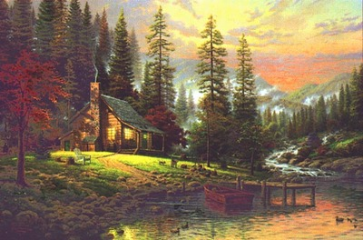 A Peaceful Retreat (24 X 36 Canvas)- Signed By The Artist								 – Canvas Lithograph – Limited Edition – 3450 S/N – 24 x 36