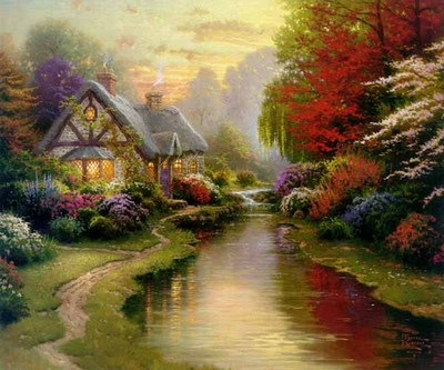 A Quiet Evening – Framed (20 X 24 Canvas)- Signed By The Artist – CanvasLithograph  – Limited Edition  – 3950S/N  –  20x24