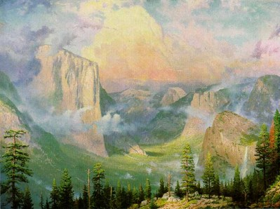 Yosemite Valley – Framed (18 X 24 Canvas)- Signed By The Artist – CanvasLithograph – Limited Edition – 980S/N – 18x24