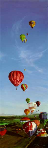 The Great Greenwich Balloon Race- Signed By The Artist – PaperLithograph – Limited Edition – 1000S/N – 30x10