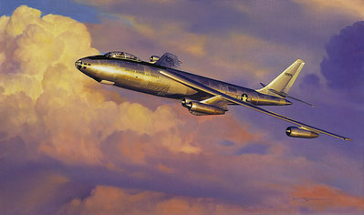 Stratojet Shakedown (B-47)- Signed By The Artist – PaperLithograph  – Limited Edition  – A/P  –  11 3/4x20