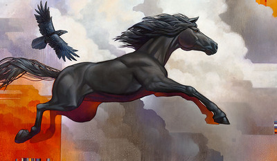 Pegasus – Leap Of Faith- Signed By The Artist – CanvasGiclee  – Limited Edition  – 10S/N  –  28x48