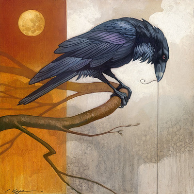 Merlin And The Golden Moon- Signed By The Artist – CanvasGiclee  – Limited Edition  – 75S/N  –  12x12