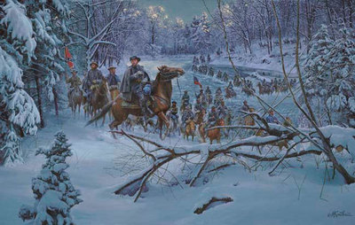 Confederate Crossing- Signed By The Artist – CanvasGiclee  – Limited Edition  – 100S/N  –  21x33
