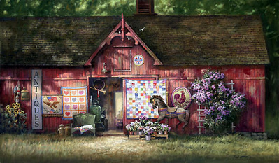 Antique Barn- Signed By The Artist								 – Canvas Giclee – Limited Edition – 150 S/N – 20 x 34