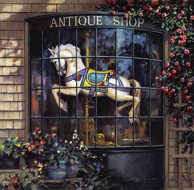 The Antique Shop- Signed By The Artist – PaperLithograph – Limited Edition – 1250S/N – 13 1/4x13 1/2