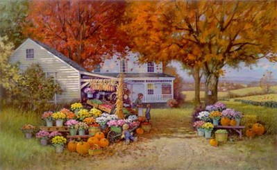 Aunt Martha's Autumn Heirloom- Signed By The Artist								 – Paper Lithograph – Limited Edition – 550 S/N – 17 x 27