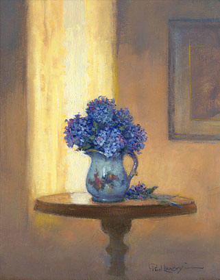 Blue Hydrangeas- Signed By The Artist – CanvasGiclee – Limited Edition – 75S/N – 9x7