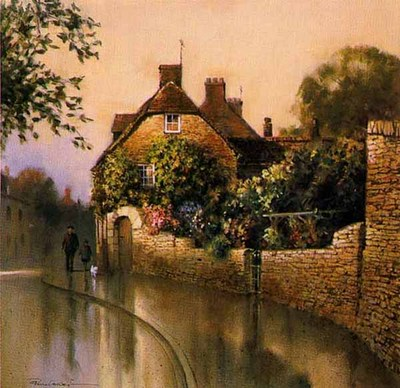 Cottage Reflections- Signed By The Artist – PaperLithograph – Limited Edition – 850S/N – 12 3/8x12 3/8