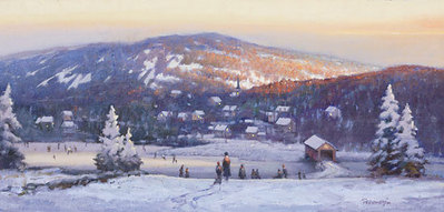 New England Winter- Signed By The Artist								 – Canvas Giclee – Limited Edition – 100 S/N – 11 x 23