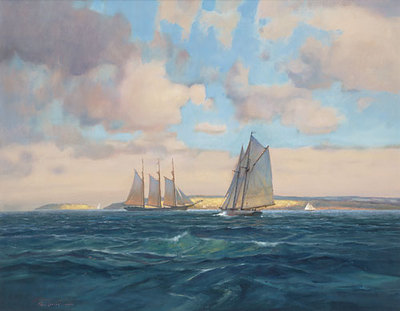 Sailing Home- Signed By The Artist								 – Canvas Giclee – Limited Edition – 50 S/N – 24 x 25