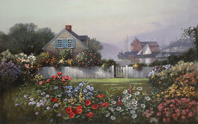 A Sailor's Garden- Signed By The Artist								 – Canvas Giclee – Limited Edition – A/P – 15 x 24