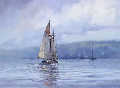 A Schooner's Return- Signed By The Artist								 – Canvas Giclee – Limited Edition – 250 S/N – 16 x 22