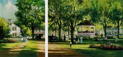 Summer Concert (2-Piece Set)- Signed By The Artist								 – Paper Lithograph – Limited Edition – 1500 S/N – 13 3/8 x 30 1/2