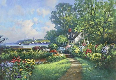 Cecilia's Garden- Signed By The Artist								 – Paper Lithograph – Limited Edition – 550 S/N – 17 1/8 x 25