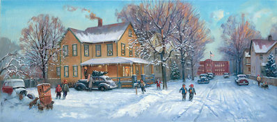 A Christmas Story- Signed By The Artist – CanvasGiclee – Limited Edition – 75S/N – 16x36 –