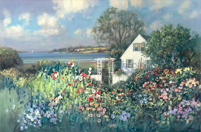 Cottage By The Sea- Signed By The Artist – CanvasGiclee – Limited Edition – 75S/N – 20x30