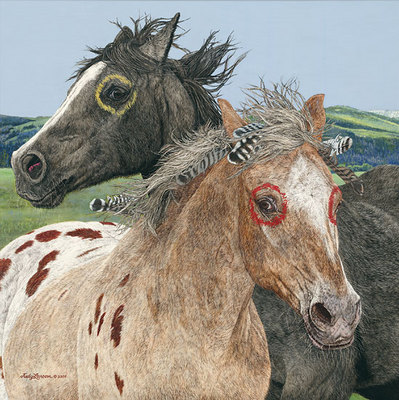 Ebenezer And The War Horse- Signed By The Artist								 – Canvas Giclee – Limited Edition – 200 S/N – 24 x 24