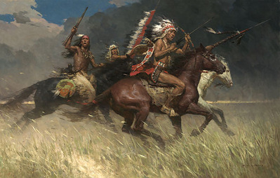 Circling The Enemy- Signed By The Artist – CanvasGiclee  – Limited Edition  – 12A/P  –  21x34