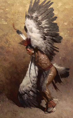 Eagle Dancer Potawatomi- Signed By The Artist – CanvasGiclee  – Limited Edition  – 15S/N  –  40x25