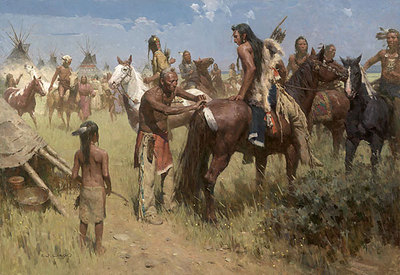 Grandpa's Blessing- Signed By The Artist – CanvasGiclee  – Limited Edition  – 12S/N  –  42x61
