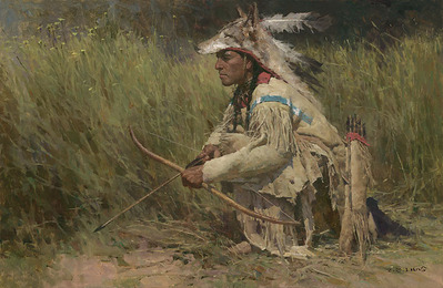 Hunting The River Bank- Signed By The Artist – CanvasGiclee  – Limited Edition  – 45S/N  –  19x29