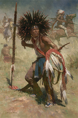 Lakota Sash Bearer, 1848- Signed By The Artist – CanvasGiclee  – Limited Edition  – 35S/N  –  33x22