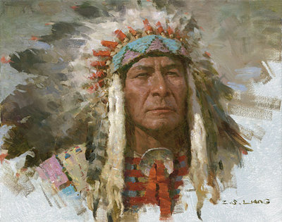 Leader Of The Tribe- Signed By The Artist – CanvasGiclee – Limited Edition – 75S/N – 10x13