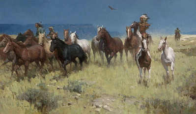 Plunder Of Many Horses- Signed By The Artist								 – Canvas Giclee – Limited Edition – 35 S/N – 28 x 48
