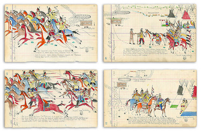 The Legend Of Crow Butte (4-Piece Set)- Signed By The Artist – PaperGiclee – Limited Edition – 50S/N – 7 1/2x12