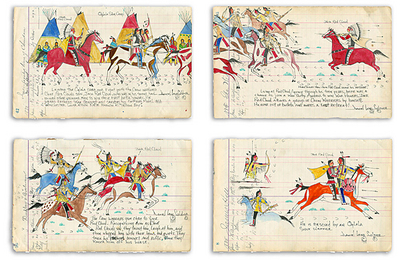 The Story Of Jack Red Cloud- Signed By The Artist – PaperGiclee  – Limited Edition  – 50S/N  –  21x29 1/2
