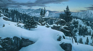 Early Winter In The Mountains- Signed By The Artist – PaperLithograph – Limited Edition – 850S/N – 18 3/4x30 1/2 –
