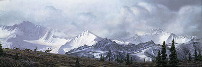 In The Heart Of Alaska- Signed By Andrea Lyman – CanvasGiclee – Limited Edition – 75S/N – 12x36