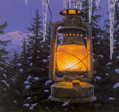 Lantern Light- Signed By The Artist – PaperLithograph – Limited Edition – 10000S/N – 8 3/4x7 7/8