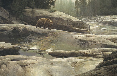 Uzumati: Great Bear Of Yosemite- Signed By The Artist								 – Paper Lithograph – Limited Edition – 50 A/P – 24 3/4 x 35