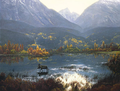 Canadian Autumn- Signed By Andrea Lyman								 – Canvas Giclee – Limited Edition – 150 S/N – 28 x 37