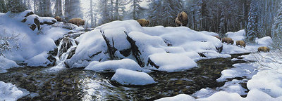 High Creek Crossing- Signed By Andrea Lyman – CanvasGiclee – Limited Edition – 129S/N – 17x48