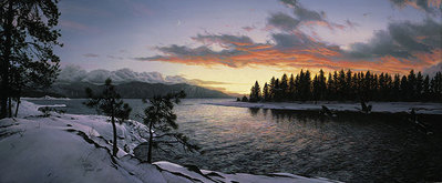 Last Light Of Winter- Signed By Andrea Lyman – CanvasGiclee – Limited Edition – 200S/N – 16x38 –