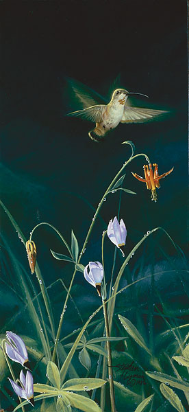 Morning Dew- Signed By Andrea Lyman – CanvasGiclee – Limited Edition – 100S/N – 13x6