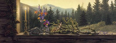 Morning Light- Signed By The Artist – PaperLithograph – Limited Edition – A/P – 13 1/2x36 1/2 –