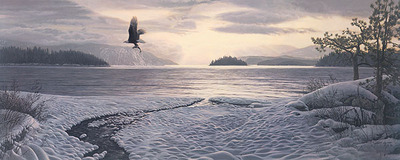 North Country Shores- Signed By The Artist – PaperLithograph – Limited Edition – 50A/P – 16x40