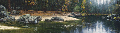 Riparian Riches- Signed By The Artist – PaperLithograph – Limited Edition – A/P – 13 1/8x46 1/2