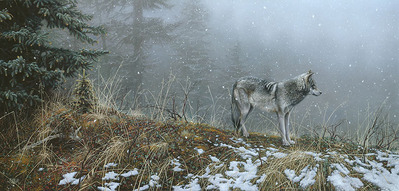 Silent Snows- Signed By Andrea Lyman – CanvasGiclee – Limited Edition – 75S/N – 16x34